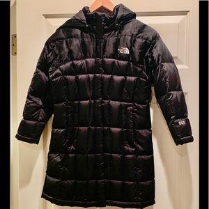 North Face 550 Down Girls Black Coat Sz M (10/12)